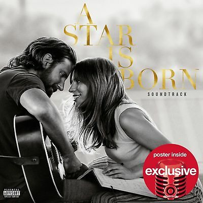 Lady Gaga Bradley Cooper A Star Is Born NEW Target Exclusive W/Poster {CD 2018}