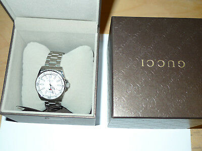 4c8b6f01c9b GUCCI DIVE YA136302 White Dial Stainless Steel Men s Watch -  508.56 ...