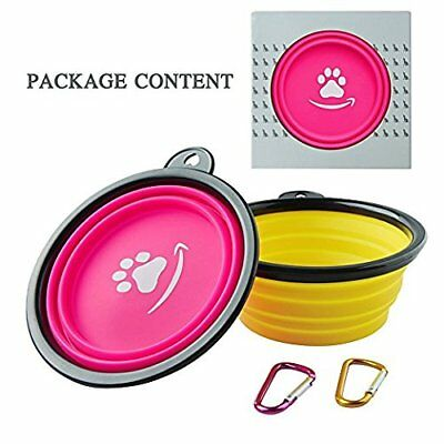 G CHANGE Collapsible Dog Bowl Food Grade Silicone BPA Free FDA Approved