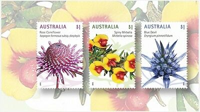 100 Australian 2016 Stamps $1 Mix franked on Paper
