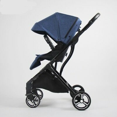 Quality Compact Baby Stroller - Blue - Black - Gray