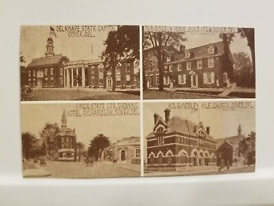 Reproduction - Vintage Views of Four Classic Places in Historic Dover, Delaware