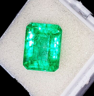 8.07 Ct Certified Natural Emerald Loose Gemstone Colombian Emerald Shape