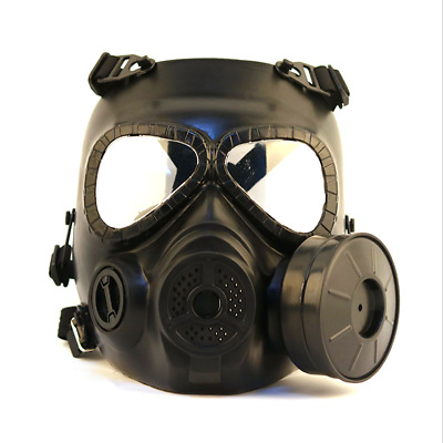 Gas Mask One Filter Fan CS Edition Perspiration Dust Eye Protect Face Guard