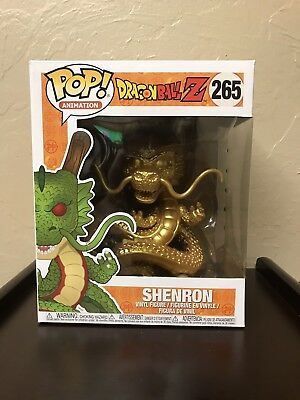 Funko POP! Animation DragonBall Z Gold Shenron #265 Hot Topic Exclusive! 6 Inch!