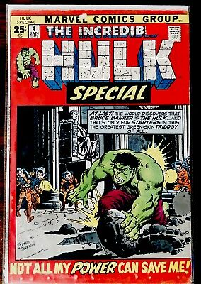 THE INCREDIBLE HULK SPECIAL #4 - (King Size Special #4) (January 1972, Marvel)