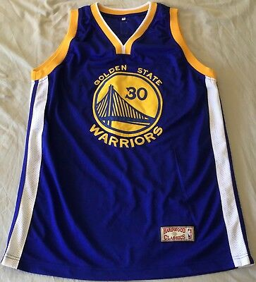 uk availability cf090 d91c0 STEPH CURRY GOLDEN State Warriors Hardwood Classic Basketball Jersey Size XL
