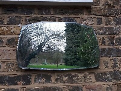Vintage Art Deco Style Wall Mirror - BEVELLED EDGE FRAMELESS CHAIN