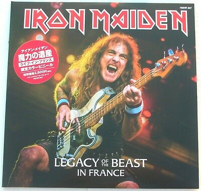 """IRON MAIDEN """"Legacy of The Beast in France"""" , Paris July 2018, 2LP, CV, GATEFOLD"""