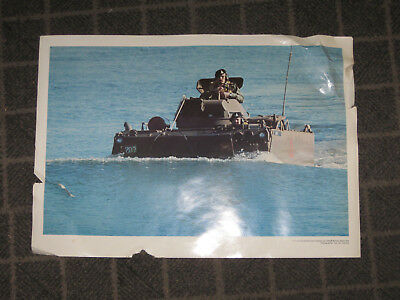 Australian Army Armoured Personnel Carrier Large Poster 1970s Recruitment Poster