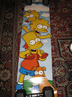 Simpsons Wall Poster Bart Lisa Maggie Santa's Little Helper 1090Mm X 315Mm 2008