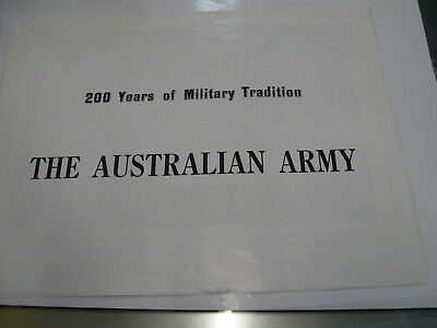 The Australian Army 200 Years of the Military Tradition Army Recruitment Poster
