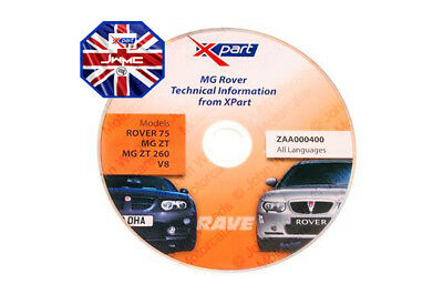 XPart MG Rover OEM ZAA000400 Rover 75 / MGZT Inc V8 Technical Information Disc