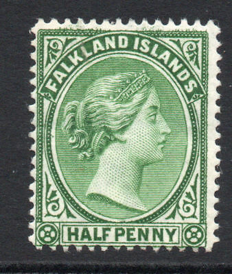 Falkland Islands 1/2 Penny Stamp c1891-02 Mounted Mint (1442)