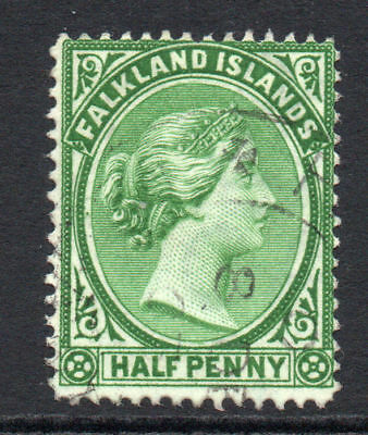 Falkland Islands 1/2 Penny Stamp c1891-02 Used (1443)