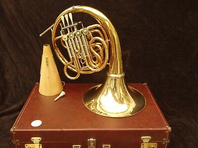 WONDERFUL COR  HANS HOYER DOUBLE F& Bb  FRENCH HORN GOLDMESSING PRE-1992