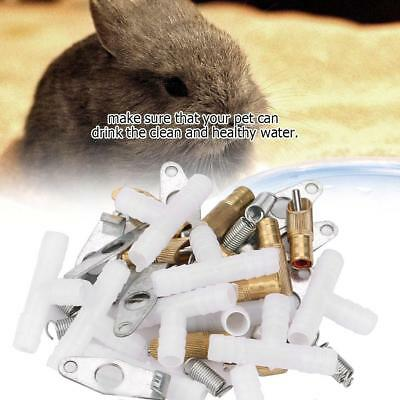 10Pcs Stainless Steel Nipple Waterer for Rabbits Rat Ferrets Non-toxic Supplies