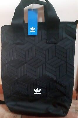 0c4e2a1f86 ADIDAS ORIGINALS 3D Roll-Top Backpack Black Bnwt Issey Miyake Style ...