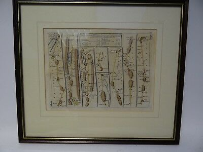 Antique Engraved Road Plan From Ambleside to Carlisle