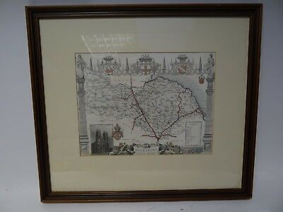 Engraved and Coloured Map of the North Riding of Yorkshire