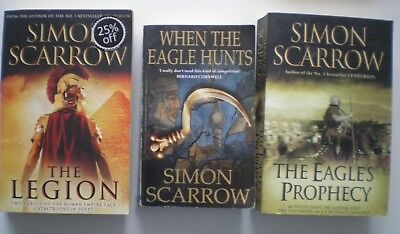 Simon Scarrow Trilogy 3 Paperbacks for price of 2 - VG Condition - Free Delivery
