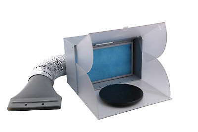Portable Airbrush Spray Booth Extractor Led Light Extractor Booth Fan