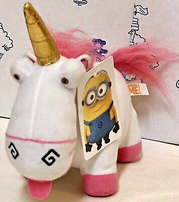 "New Despicable Me Minion Made Fluffy Unicorn Universal Plush TOY FACTORY 8"" Doll"