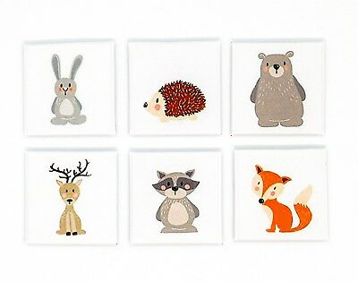 Dolls House Miniature Nursery Watercolour Print Canvas Picture Painting Animals