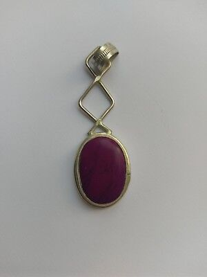 Sterling silver and amethyst pendant Pre-Owned