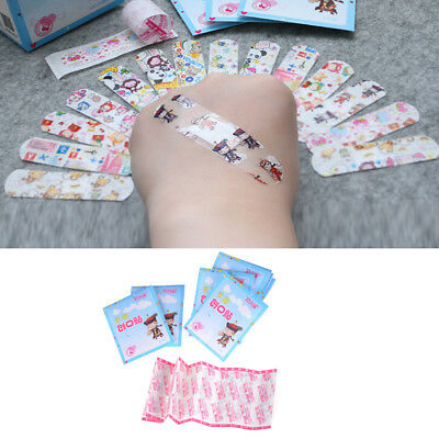 50Pcs Kids Children Cute Cartoon Band Aid Variety Different Patterns Bandage RD