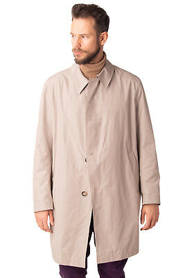 BUGATTI Trench Coat Size 28 Water-Repellent Button Front Collared RRP €530