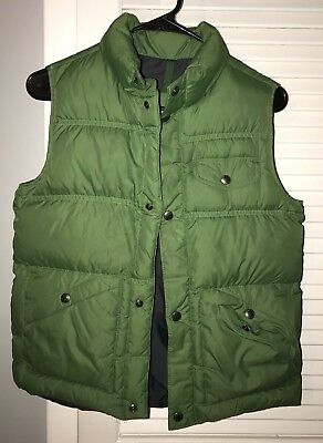 Lands' End Boys Green Down Vest. Size M 10/12