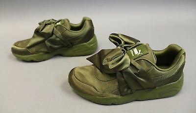 Puma Rihanna Fenty Bow Low Women s Lifestyle Shoes Olive Green 365054-04  MM1 8.5 dfdf27c8e