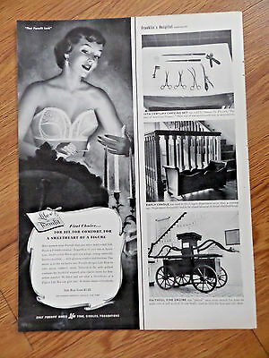 1951 Life Formfit Bra Girdle Ad  For a Sweetheart of a Figure First Choice
