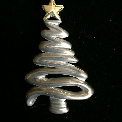 Squiggly Christmas Tree Pin Pendant Combo Xmas