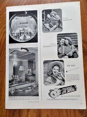 1946 Life Savers Candy Ad  Country Guy & Gal