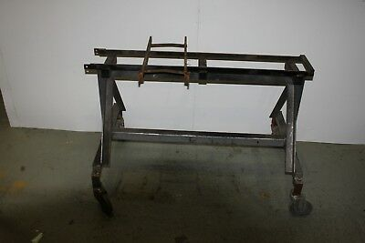 """storage/work stand for 7.1/4"""" live steam locomotive 44"""" long 29"""" high on wheels"""