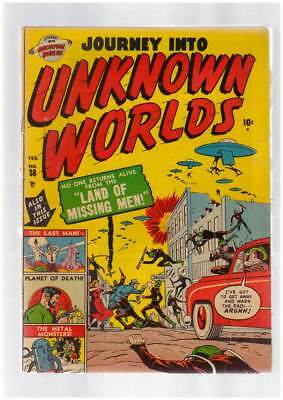 Journey into Unknown Worlds # 38 (# 3) Missing Men ! grade 3.0 scarce Atlas book