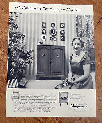 1955 Magnavox TV Television Radio Phonograph Ad Broadway Star Helen Hayes