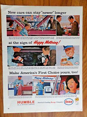 1964 Humble Oil Esso Ad  Happy Motoring  See the World's Fair
