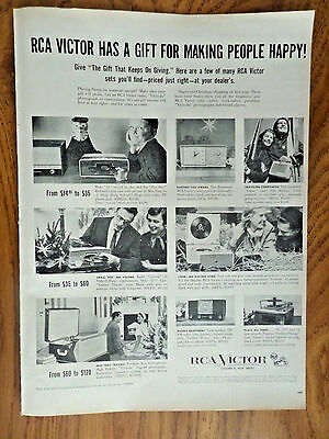 1955 RCA Victor Radios Phonographs Play-Bar Ad