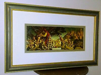 """""""The Pied Piper of Hamelin"""" double matted & framed print by Maxfield Parrish"""