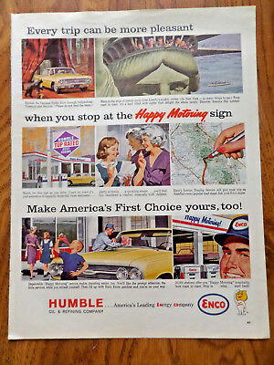 1963 Humble Oil Enco Ad Happy Motoring Explore the National Parks