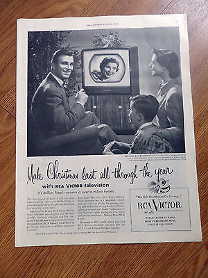 1950 RCA Victor TV Television Ad   The Kent-Ensemble