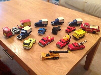 Job Lot Of Old Diecast Lorries And Trucks