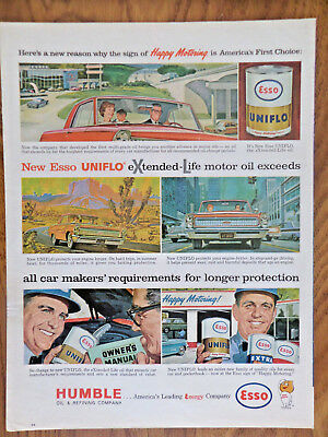 1962 Humble Oil Enco Ad Happy MotoringAll Weather is a Little Better