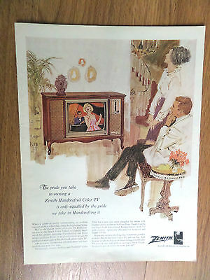 1965 Zenith TV Television Ad Pride you take in own a Handcrafted Color TV