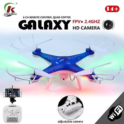 Explorer D97 Quadcopter Drone FPV 2.4Ghz  RC 4CH 6-Axis LED HD WIFI Camera RTF
