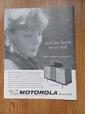 1959 Motorola Stereo HI-FI Phonograph Ad  Satisfy the Sensitive Ear