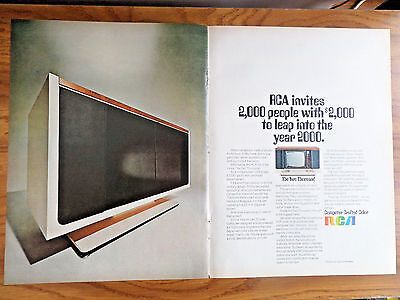 1969 RCA TV Television Ad  The Two Thousand